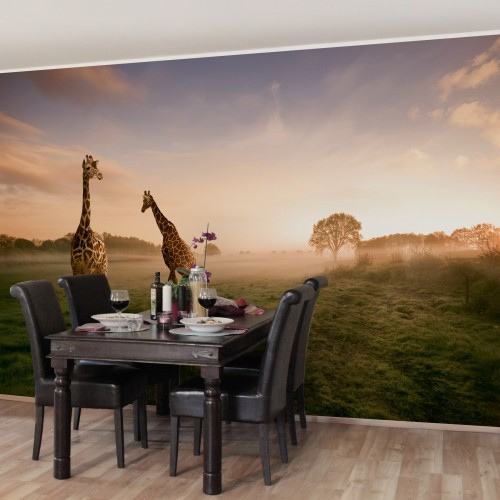 Decor cu girafe - fototapet animale