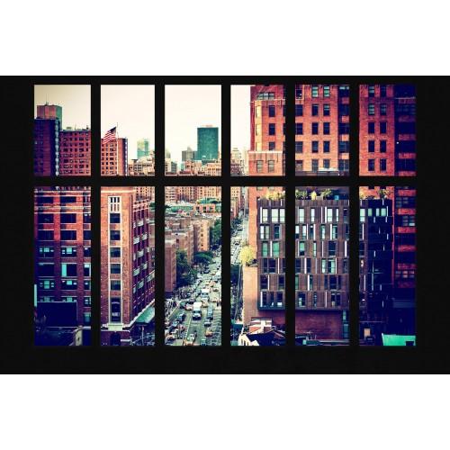 Fereastra New York-ului - fototapet vlies