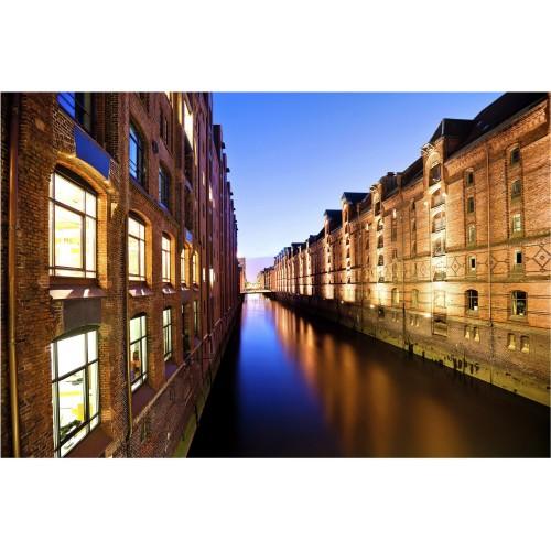 Hamburg Speicherstadt - fototapet vlies