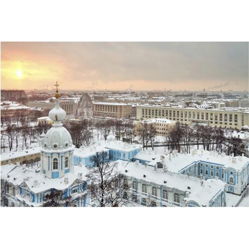 Iarna in St. Petersburg - fototapet vlies