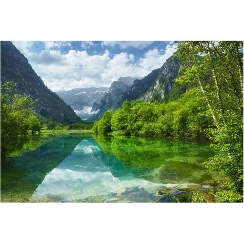 Lacul de la munte - fototapet vlies