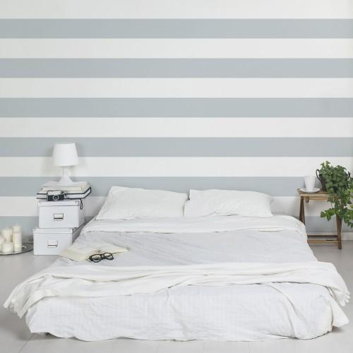 Linii orizontale alb-gri - fototapet vlies