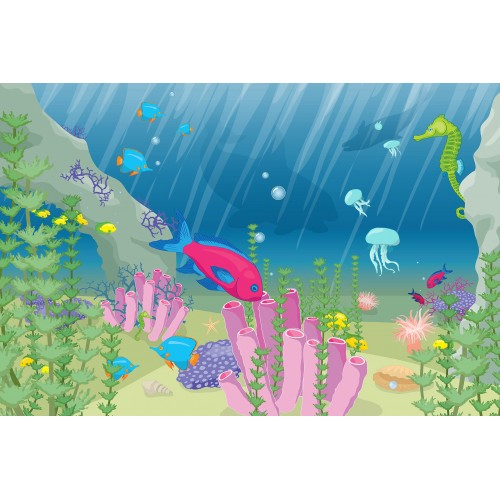 Lumea subacvatica - fototapet copii