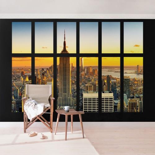 Manhattan prin fereastra - fototapet vlies