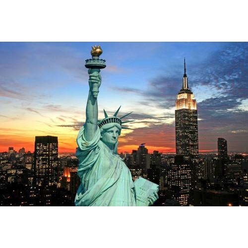 Noaptea in New York - fototapet vlies