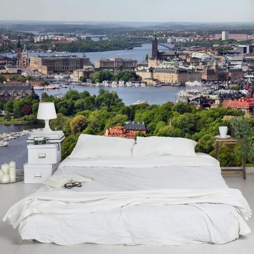 Orasul Stockholm - fototapet vlies