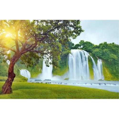 Fototapet paradisul cascadei pe Pământ