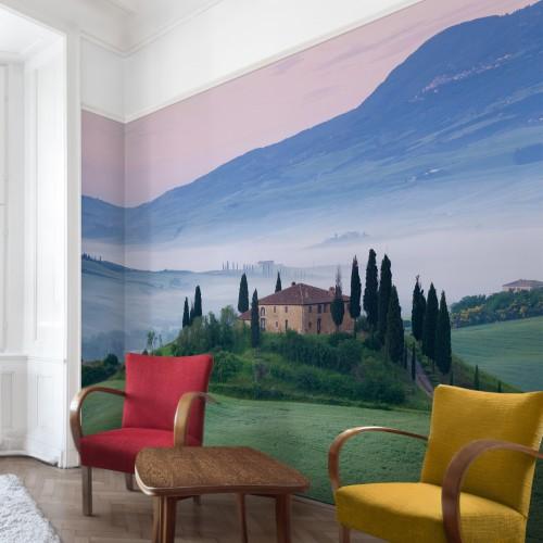 Rasarit in Toscana - fototapet vlies