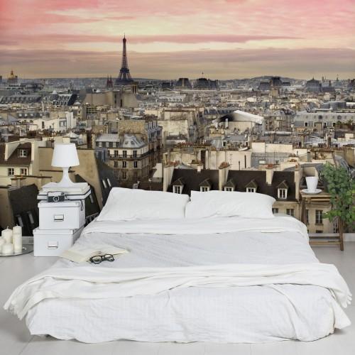 Romanticul Paris - fototapet vlies