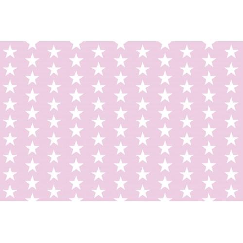 Stelute albe pe fundal roz - fototapet vlies