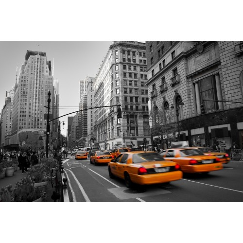 Taxi in New York, New York! - fototapet vlies