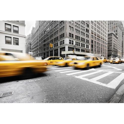 Taxi-ul galben din New York - fototapet vlies
