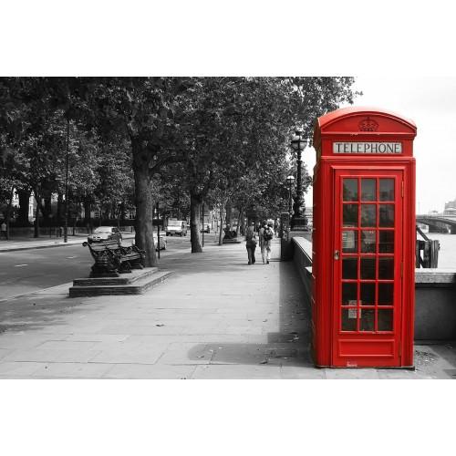 Telefonul rosu londonez - fototapet vlies