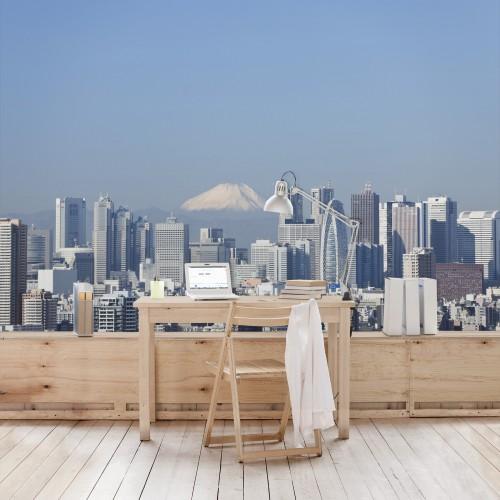 Tokyo inainte de Fuji - fototapet vlies