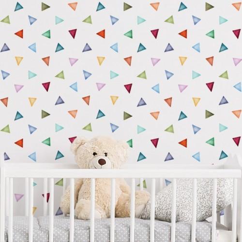 Fototapet triunghiuri colorate