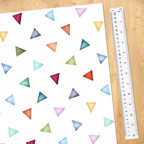Triunghiuri colorate - fototapet vlies