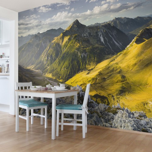 Vaile si muntii Alpilor - fototapet vlies