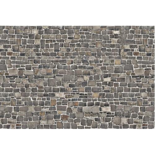 Zid de piatra gri - fototapet vlies