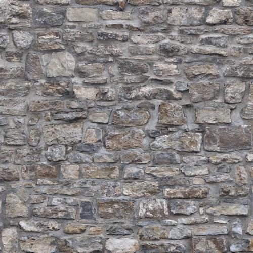 Zid gri din piatra naturala - fototapet vlies