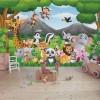 Animale sălbatice din junglă - fototapet copii vlies