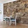Cutii din lemn maro vintage - fototapet vlies