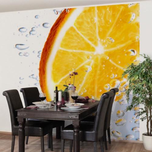 Felie de portocală - fototapet bucătărie