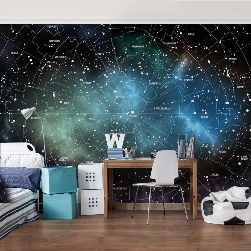 Fototapet cosmos Harta galaxiei - 214865