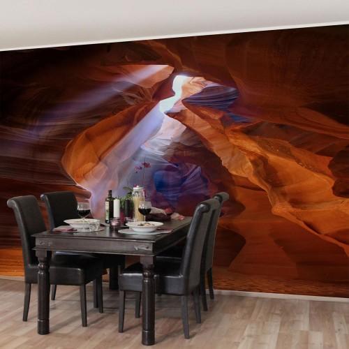 Jocul luminilor în canionul Antelope - fototapet vlies