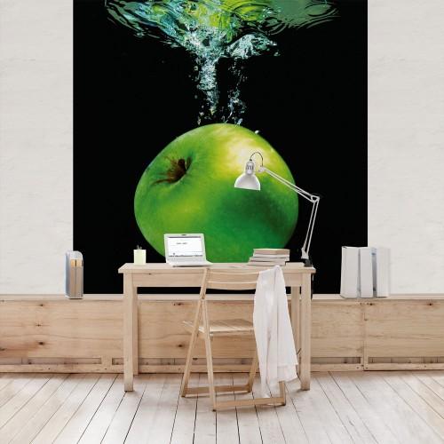 Fototapet bucătărie - Măr verde