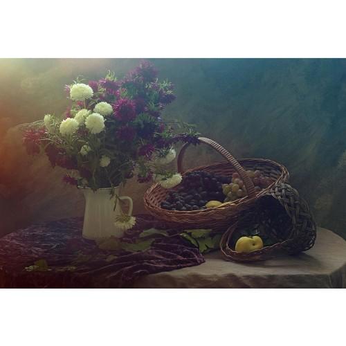 Fototapet natura statică: Vaza cu flori colorate