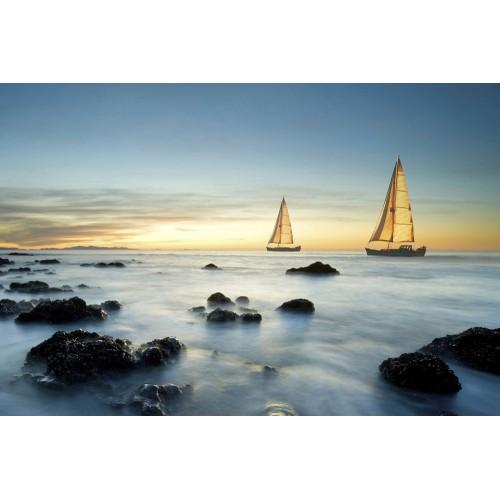 Nave plutitoare în ocean - fototapet vlies