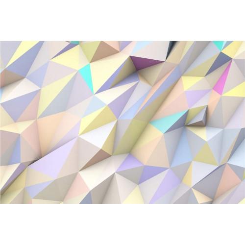 Triunghiuri geometrice pastelate în 3D - fototapet vlies